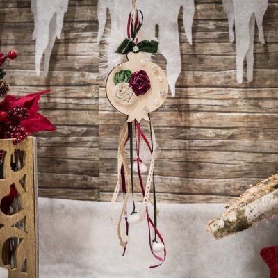 μπομπονιέρα γούρι χριστουγεννιάτικο