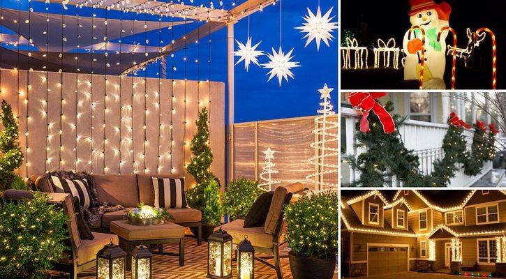 Χριστουγεννιάτικη διακόσμηση βεράντας ή αυλής