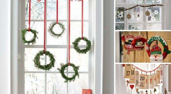 Χριστουγεννιάτικη διακόσμηση παραθύρων
