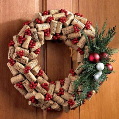 χριστουγεννιατικο στεφανι φελλους