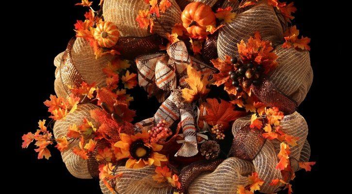 ιδεες για φθινοπωρινα στεφανια λινατσα