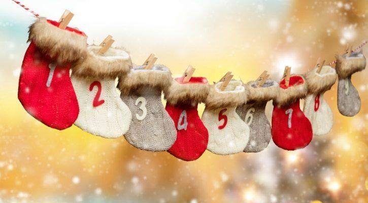 Χριστουγεννιάτικες κάλτσες σκουφάκια