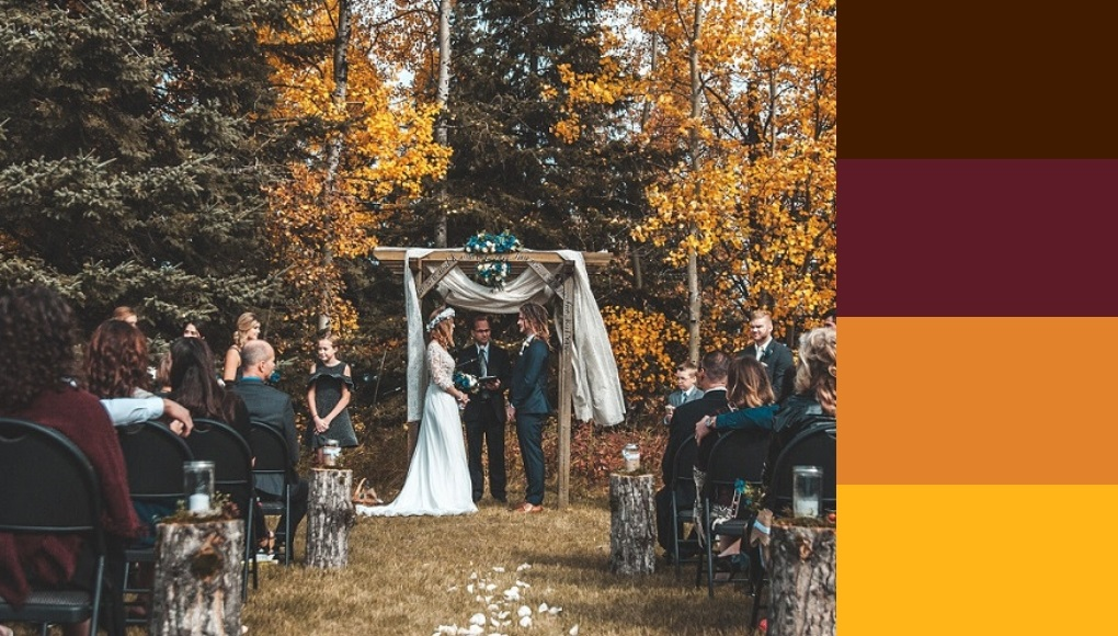 χρώματα και ιδέες για φθινοπωρινό γάμο