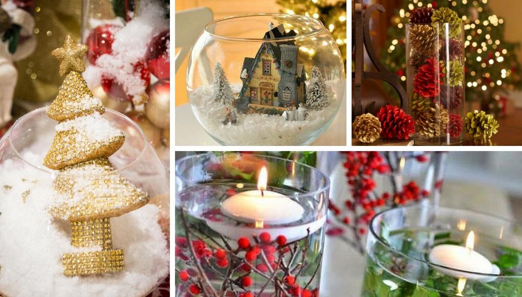 5 ιδέες για χριστουγεννιάτικη διακόσμηση με γυάλινα βάζα