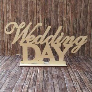 ΤΑΜΠΕΛΑ ΞΥΛINH WEDDING DAY 40X20CM ΑΒΑΦΗ