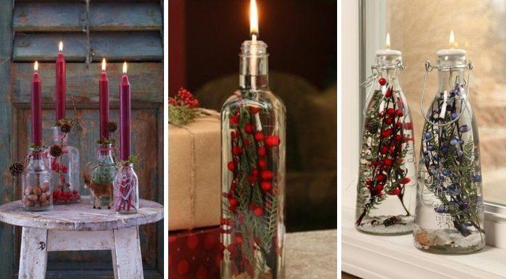 diy χριστουγεννιατικα κερια