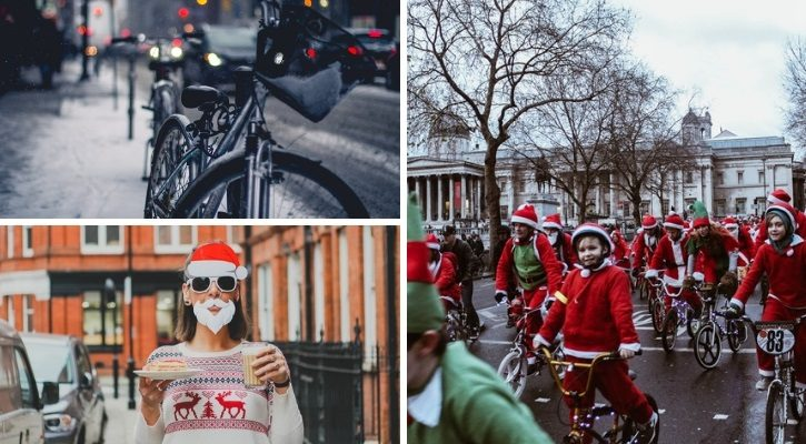Χριστουγεννιάτικη βόλτα με ποδήλατα