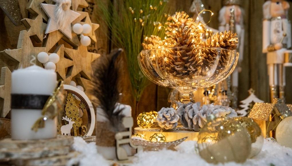 ιδεες για DIY χριστουγεννιάτικα centerpieces