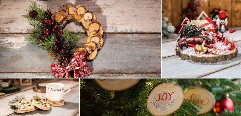 4 diy ιδέες για χριστουγεννιάτικη διακόσμηση με φέτες κορμού2