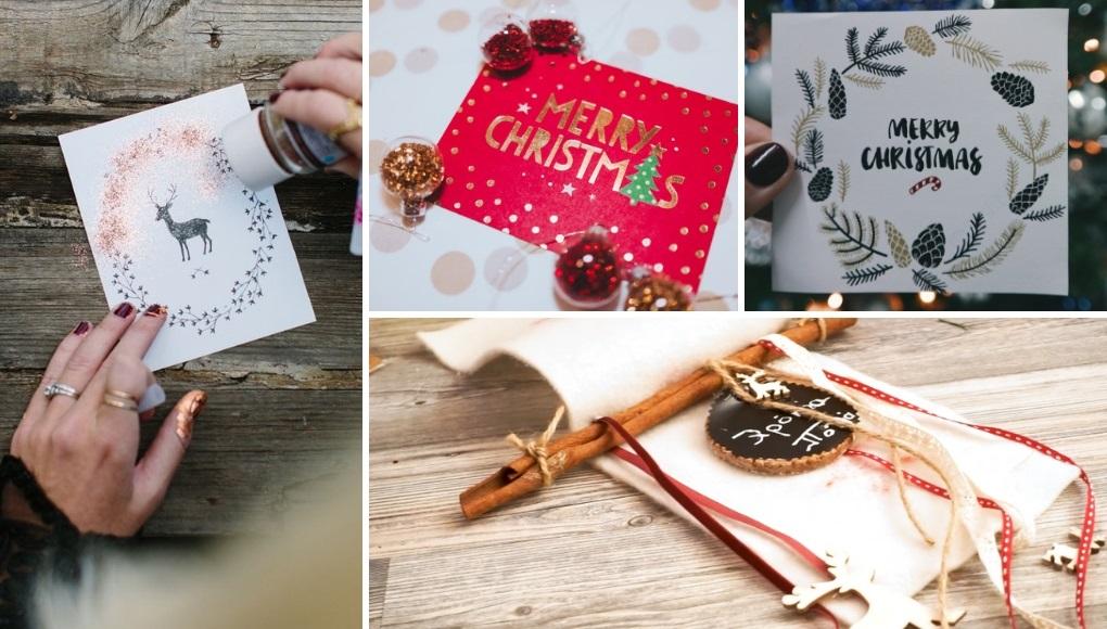 7 ιδέες για DIY χριστουγεννιάτικες κάρτες