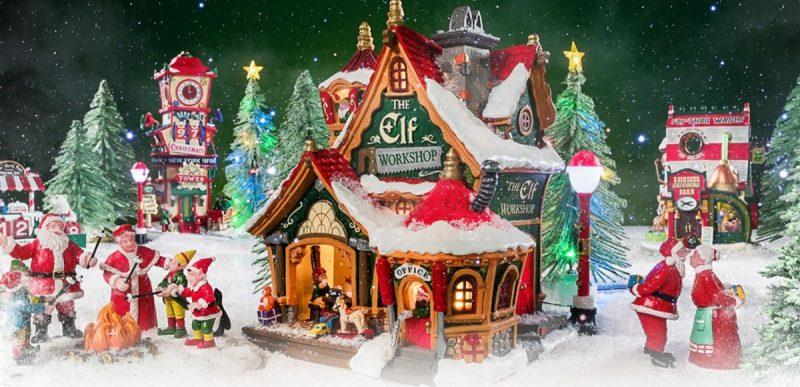 Santa's wonderland Lemax Tο χωριό του Άγιου Βασίλη σε μινιατούρες2