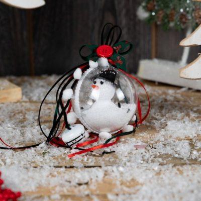 Γούρι 2019 μπάλα χιονάνθρωπος