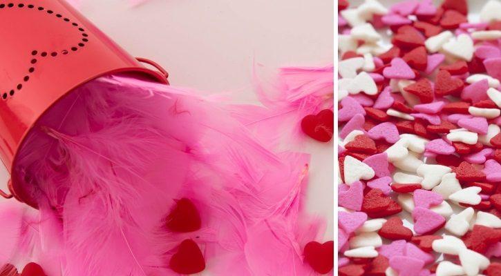 Ρομαντικά διακοσμητικά και καρδούλες