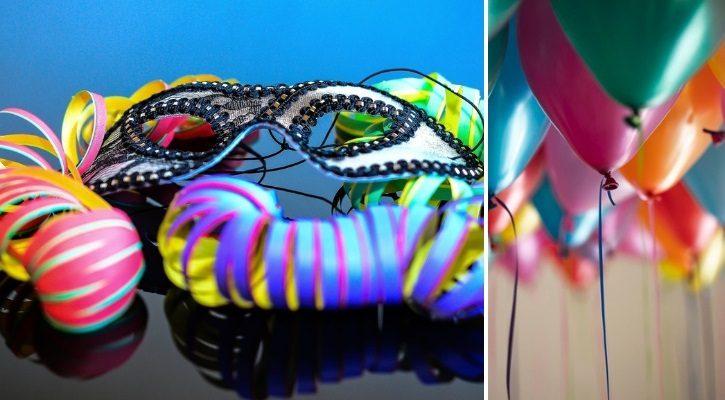 Σερπαντίνες και μπαλόνια
