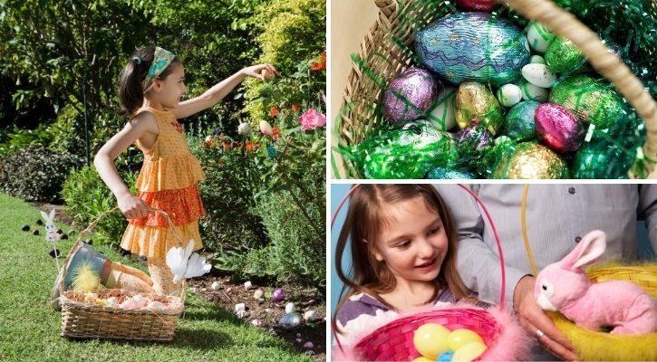 Σοκολατένια αυγά και πασχαλινά καλάθια