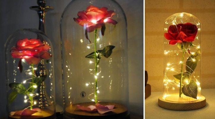DIY μαγεμένο τριαντάφυλλο της Belle