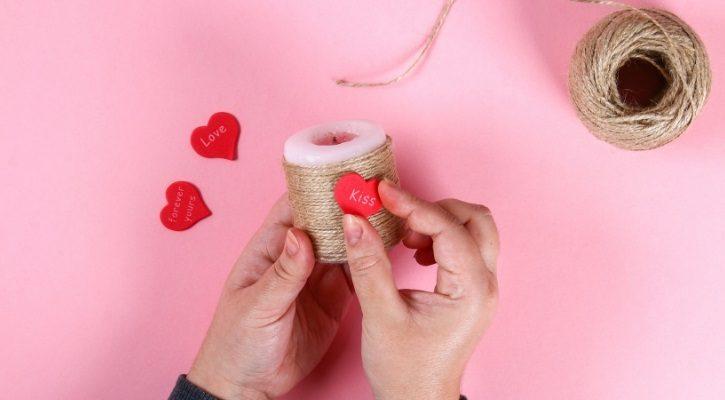 DIY ρομαντικά κεριά
