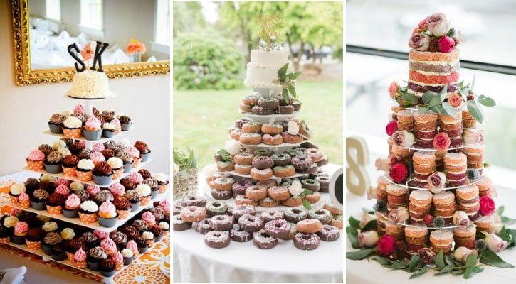 Τούρτα γάμου με cupcakes