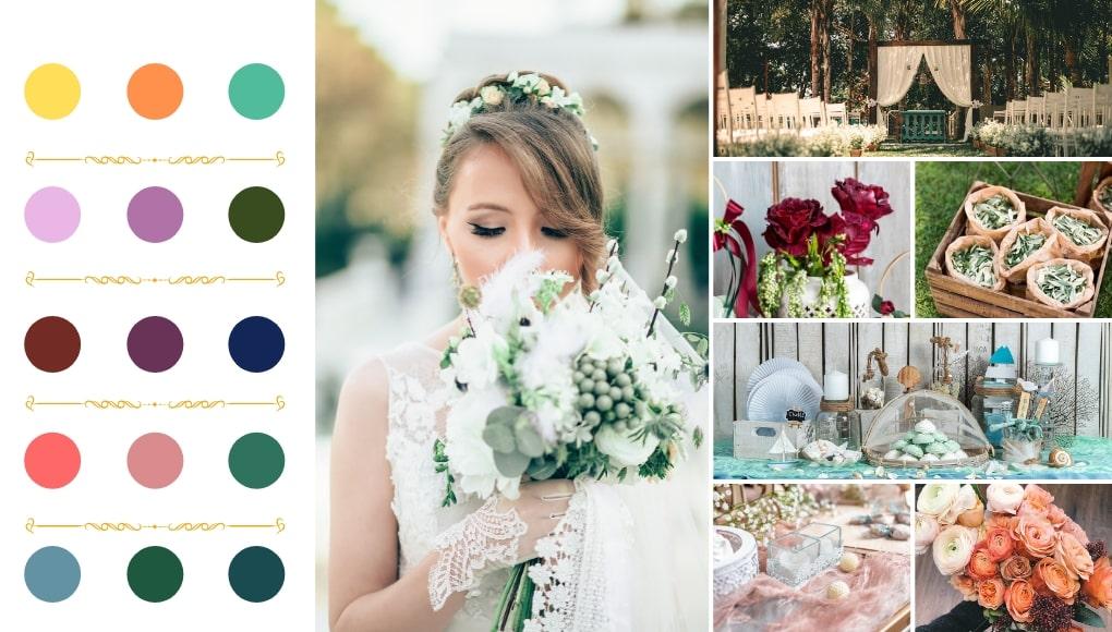 ιδέες και Χρώματα για καλοκαιρινό γάμο 2019