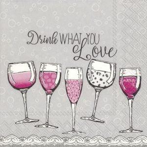 ΧΑΡΤΟΠΕΤΣΕΤΕΣ Χ20 25CM DRINK WHAT YOU LOVE