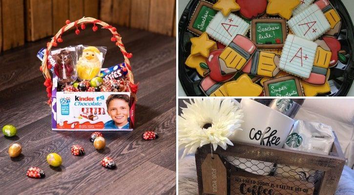 Καλάθι με μπισκότα και γλυκά δώρα για δασκάλους