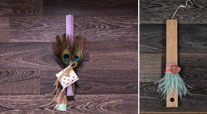 Πασχαλινή λαμπάδα με φτερά