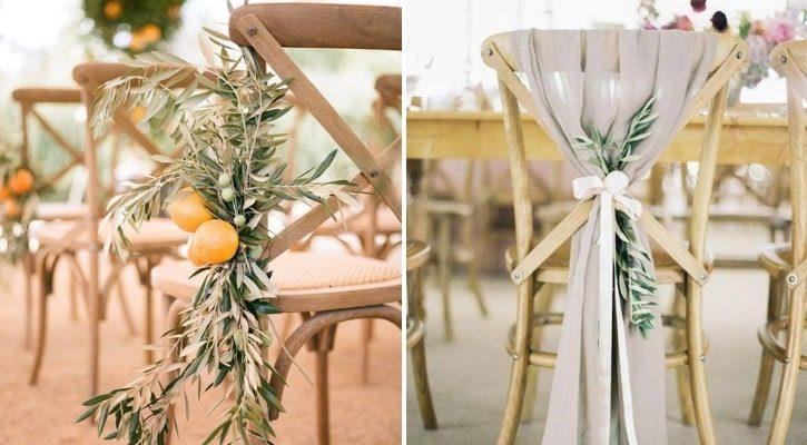 Διακόσμηση καρέκλας με ελιά
