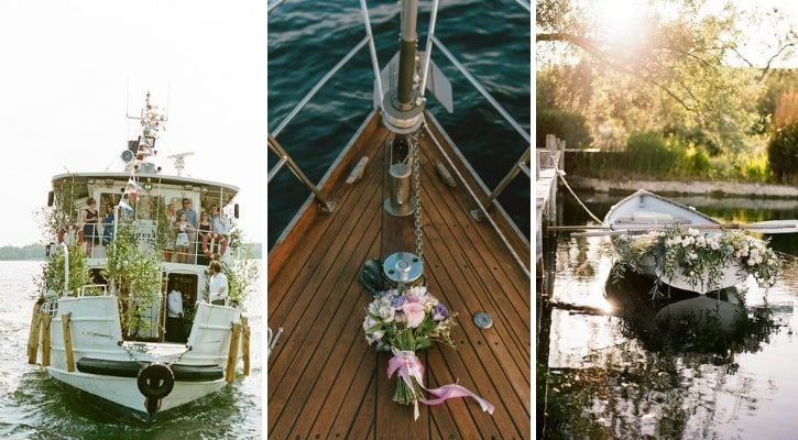 Ερχομός νύφης με βάρκα