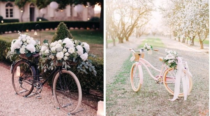 Μεταφορά στην εκκλησία της νύφης με ποδήλατο