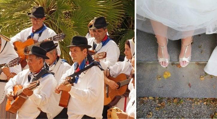 Μεταφορά της νύφης στην εκκλησιά με τα πόδια