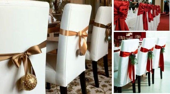 Χριστουγεννιάτικος στολισμός με κορδέλες και στολίδια