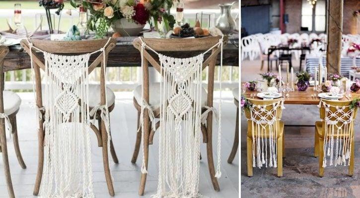 Boho στολισμός καρέκλας γάμου
