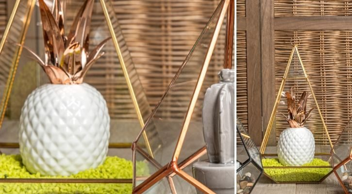 Γεωμετρικά φανάρια με διακοσμητικό ανανά