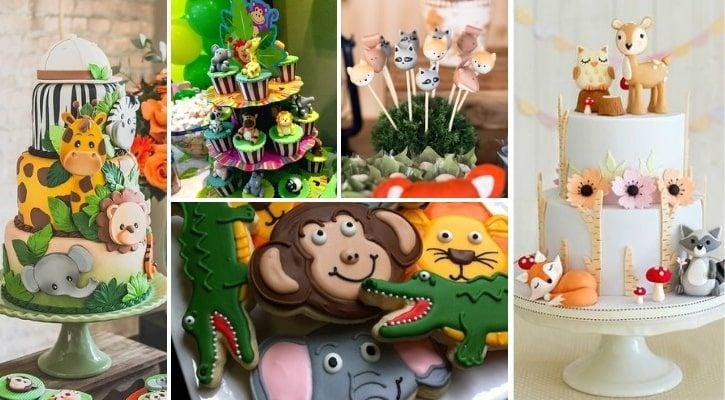 Γλυκά και τούρτα με ζωάκια
