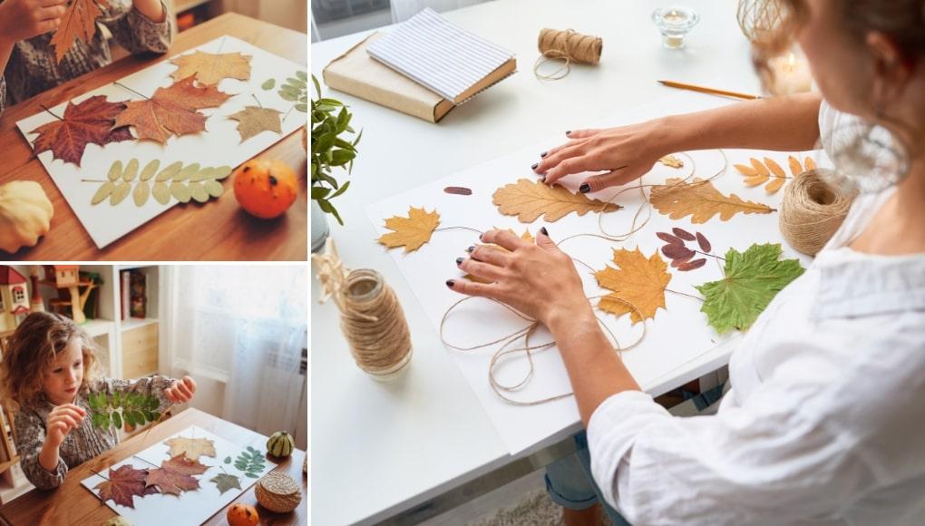 Κατασκευές με φθινοπωρινά φύλλα 6 Οικονομικές Ιδέες