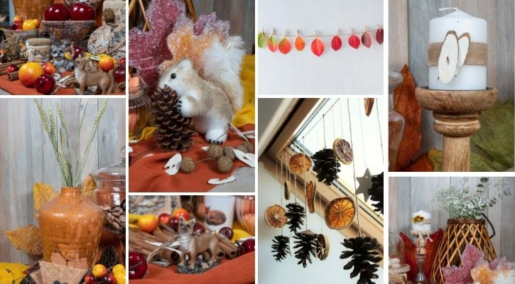 Κλασική φθινοπωρινή διακόσμηση βιτρίνας