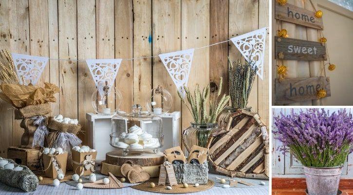 Ρουστίκ διακόσμηση βιτρίνας για φθινόπωρο