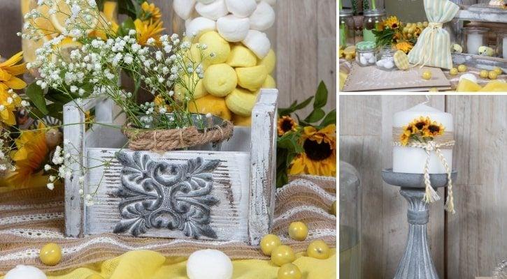 Τραπέζι ευχών με θέμα λεμόνια