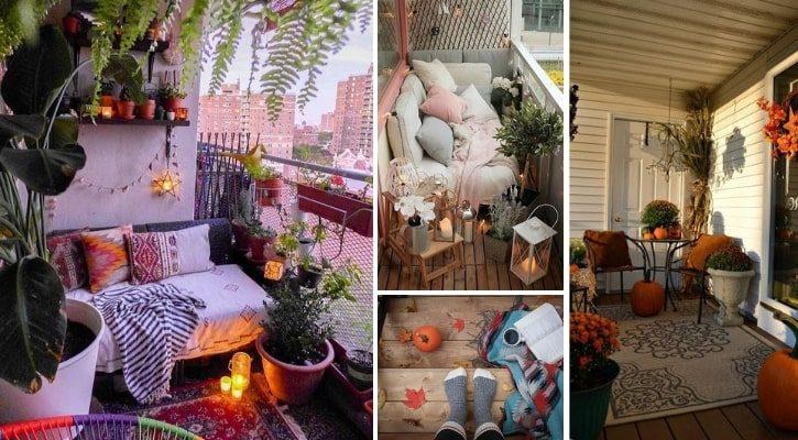 Φθινοπωρινή διακόσμηση με φλοκάτες και κουβέρτες