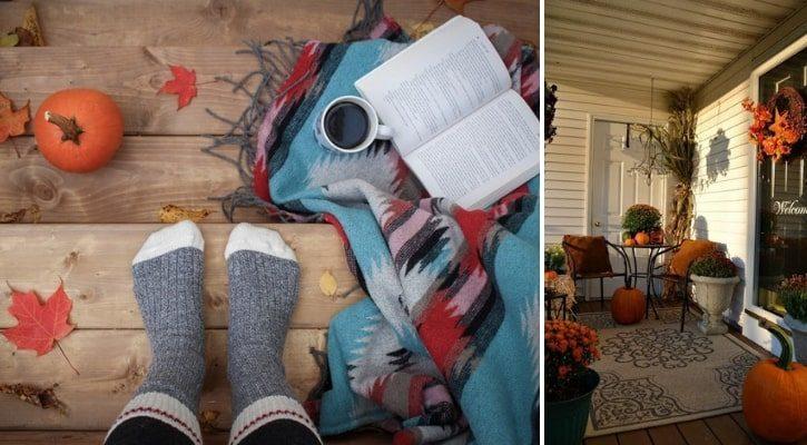 Φλοκάτες και κουβέρτες για φθινοπωρινή διακόσμηση