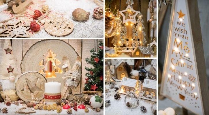 Χρώματα και υφάσματα για ρουστίκ χριστουγεννιάτικη διακόσμηση