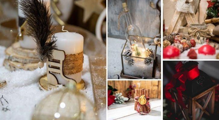 Ξύλινα φανάρια και ρουστίκ κεριά