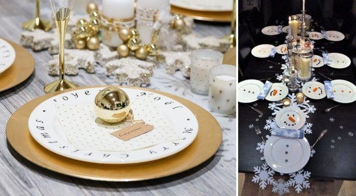 Πρωτοχρονιάτικη διακόσμηση πιάτων
