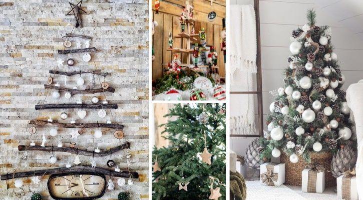 Ρουστίκ χριστουγεννιάτικο δέντρο