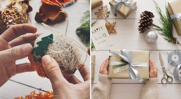 Χειροποίητα χριστουγεννιάτικα δώρα - οικολογικά Χριστούγεννα