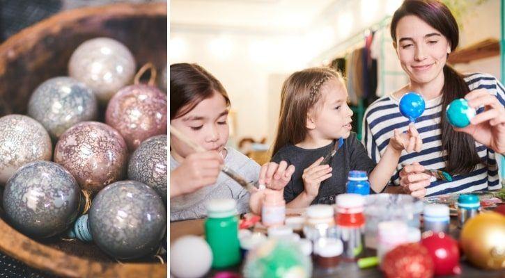 Χριστουγεννιάτικες μπάλες με χρώματα - Πώς να ανανεώσω Παλιά Χριστουγεννιάτικα Στολίδια