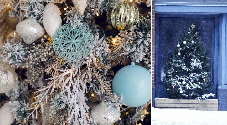Χριστουγεννιάτικο δέντρο με σπρέι χιονιού