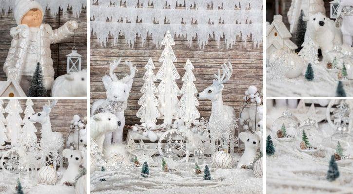 Λευκός χριστουγεννιάτικος στολισμός