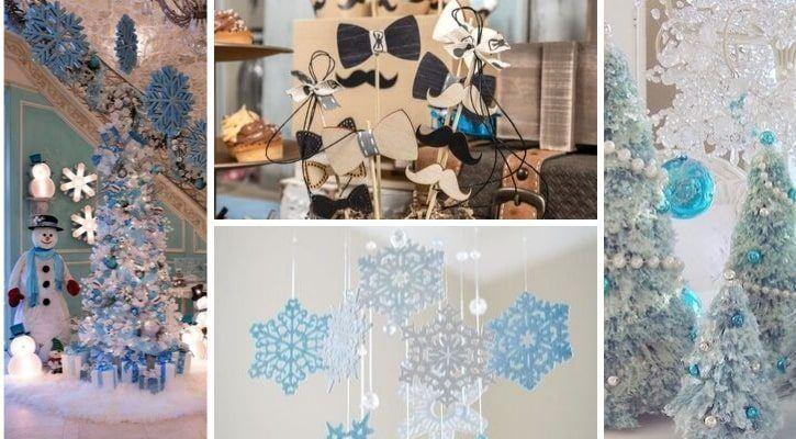 Μπλε χριστουγεννιάτικη διακόσμηση για τα πρώτα Χριστούγεννα με το μωρό