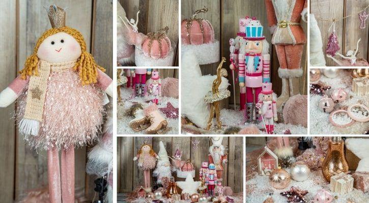 Ροζ χριστουγεννιάτικη διακόσμηση